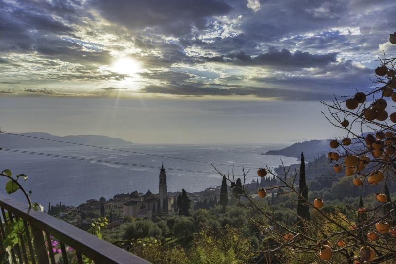 Вилла с видом на озеро Гарда в Ганьяно